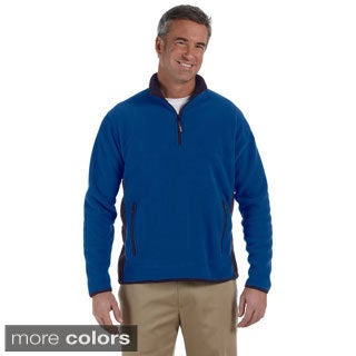 Men's Polartec Colorblock Quarter-zip Fleece Jacket