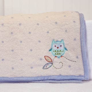 Nurture Imagination Nest Coral Fleece Blanket