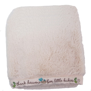 Nurture Imagination Nest Plush Blanket with Embroidered Trim