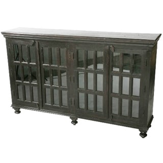 Michigan Dark Horizontal Glass Cabinet