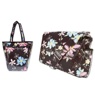 Trend Lab 2-piece Baby Diaper Bag Kit in Blossoms
