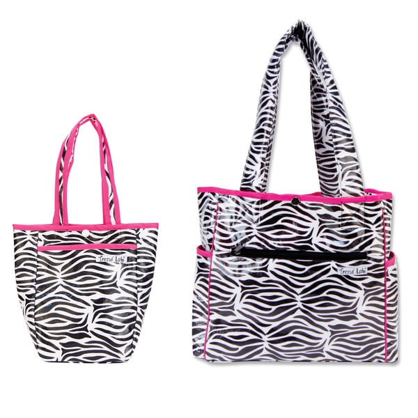 Trend Lab 2-piece Diaper Bag Kit in Zebra