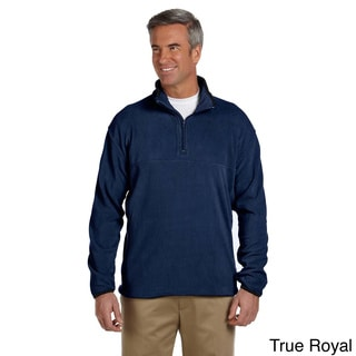 Men's Microfleece Quarter-zip Pull-over Sweater