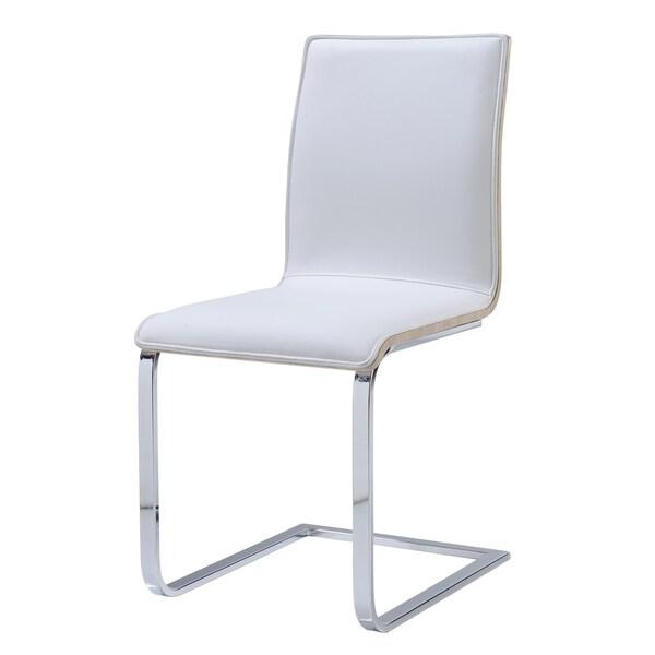 Sonoma White/ Chrome Upholstered Dining Chair
