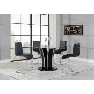 Black/ Silver Contemporary Bar Table
