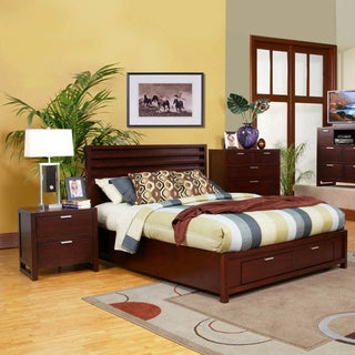 American Lifestyle Camarillo Merlot Storage Bed