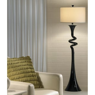 Signature Design by Ashley Rowan Black Twisted Floor Lamp