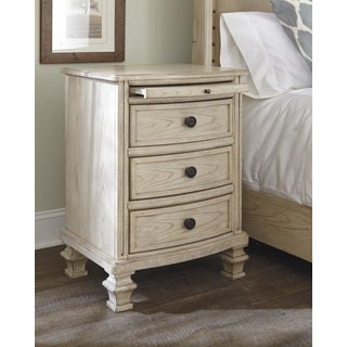 Signature Design by Ashley Demarlos Parchment White Nightstand