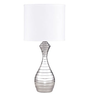 Signature Designs by Ashley Neddie Chrome Striped Table Lamp