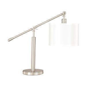 Signature Designs by Ashley Sabelle Brushed Silver Metal Desk Lamp