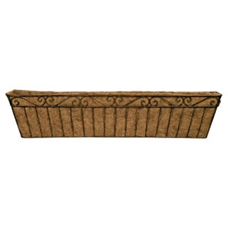 Imperial Metal Window Box Planter and Coco Liner