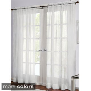 Perth Sheer Rod Pocket Curtain Panel Pair