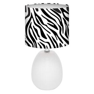Zebra Glow Melon 3-way Table Lamp