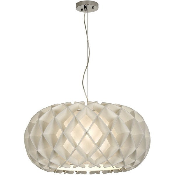 Large Ova Nickel 1-light Honeycomb Pendant