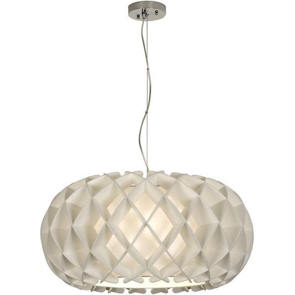Large Ova Nickel 1-light Honeycomb Pendant