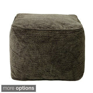 Microsuede Bean-filled Cube Ottoman