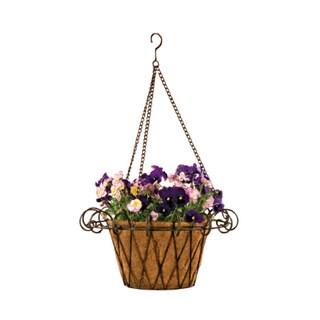 Deer Park Metal Flower Basket with Coco Liner