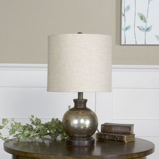 Uttermost Arago Antiqued Mercury Glass and Wood Table Lamp