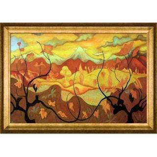 Paul-Elie Ranson 'Vines' Hand-painted Framed Canvas Art