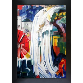 Franz Marc 'The Bewitched Mill' Hand-painted Framed Canvas Art