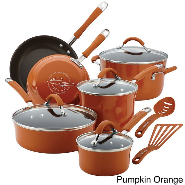 Rachael Ray Cucina Hard Enamel Nonstick 12-piece Cookware Set 13310449