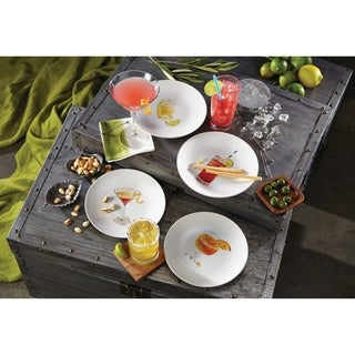 Rachael Ray Dinnerware Cocktails 4-piece Assorted Stoneware Party Plate Set