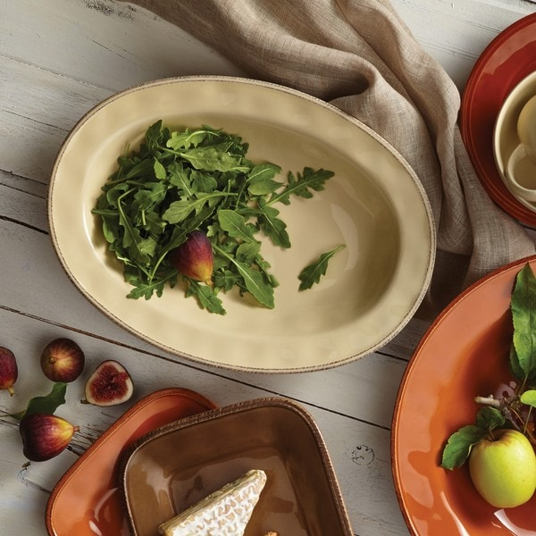 Rachael Ray Cucina Dinnerware 12-inch Stoneware Oval Serving Bowl 13310481