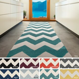 Artistic Weavers Hand-tufted Luci Chevron Wool Area Rug (2'3 x 12')