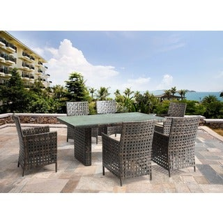 Pinery Beige Woven Polyethylene Outdoor Dining Chair (Set of 2)