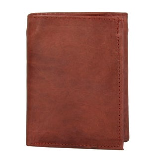 Vance Men's Genuine Leather Tri-fold Passcase Wallet