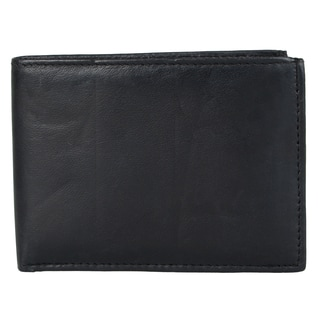 Vance Men's Genuine Leather Bi-fold Passcase Wallet