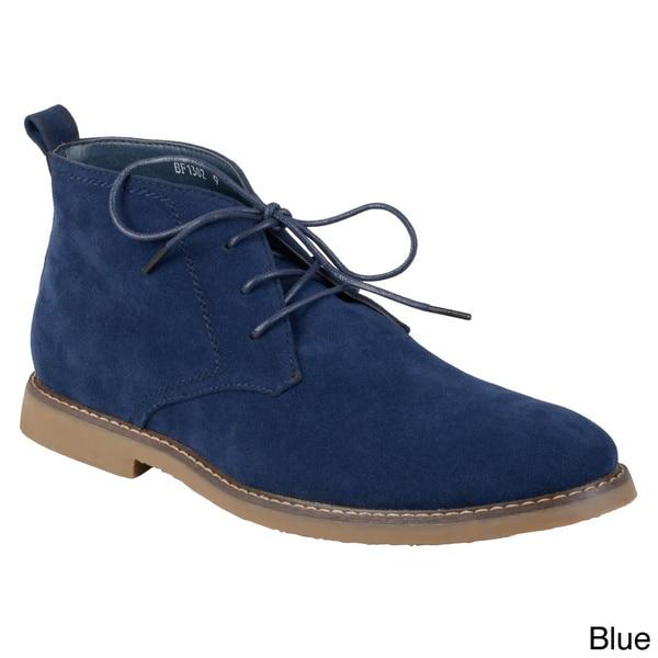 Boston Traveler Men's Faux Suede Lace-up Boots