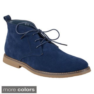 Boston Traveler Men's Faux Suede Lace-up Boots