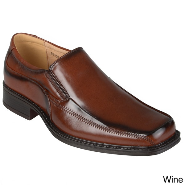 Boston Traveler Men's Topstitched Dress Loafers