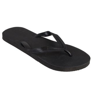 Boston Traveler Men's Solid Color Rubber Flip Flops