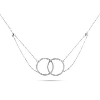 Miadora Sterling Silver 1/10ct TDW Diamond Circle Necklace (H-I, I2-I3)