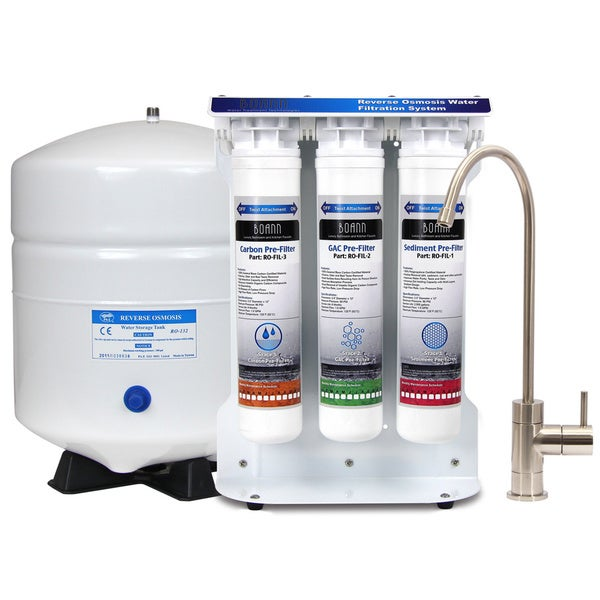 BOANN 6-stage Reverse Osmosis Water Filter System with Quick-twist Filters 13311822