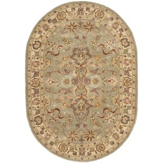 Safavieh Handmade Heritage Light Green/ Beige Wool Rug (7'6 x 9'6)