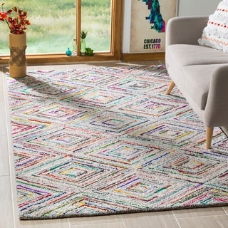 Safavieh Handmade Nantucket Multicolored Cotton Rug (8' x 10')