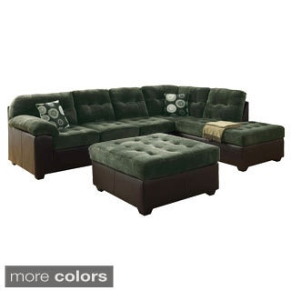 Broby Reversible Sectional Sofa with Matching Ottoman