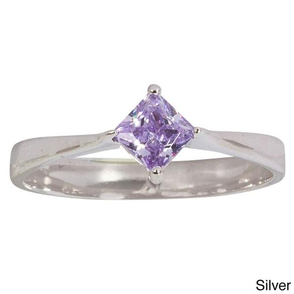 nexte jewelry sterling silver lavender princess cut cubic