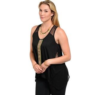 Feellib Women's Plus Size Tribal Sleeveless Top