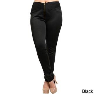 Feellib Women's Plus Size Slim Leg Knit Pants