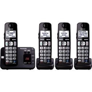 Panasonic KX-TGE234B DECT 6.0 1.90 GHz Cordless Phone - Black