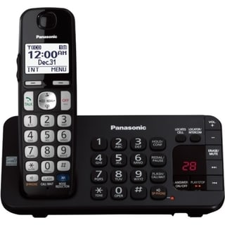 Panasonic KX-TGE240B DECT 6.0 1.90 GHz Cordless Phone - Black