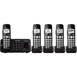 Panasonic KX-TGE245B DECT 6.0 1.90 GHz Cordless Phone - Black