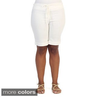 Hadari Women's Plus Size Casual Knee-length Shorts