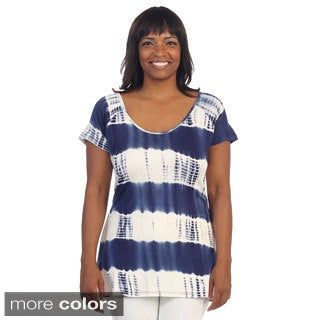 Hadari Women's Plus Tie-dye Top