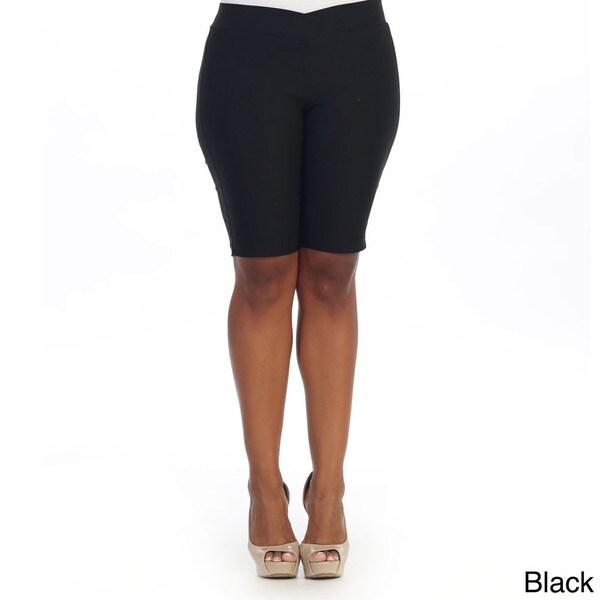Hadari Women's Plus Capri Shorts