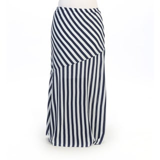Hadari Women's Plus Striped Maxi Skirt